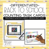 Back to School Differentiated Counting Task Cards {Printab