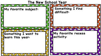 Back to School Digital Activities