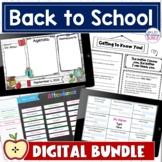 Back to School Digital Activities | Editable Bundle
