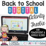 Back to School Digital Activity Freebie {PowerPoint or Google Slides Show}