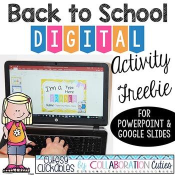 Back to School Digital Activity Freebie {PowerPoint or Goo