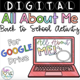 "Back to School: Digital ""All About Me"" Posters for Google Drive"