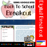 Back to School Digital Breakout