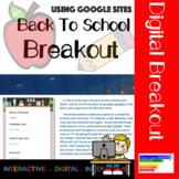 Back to School Digital Breakout