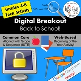 Back to School Digital Breakout - Back to School Escape Room WEBSITE Included!