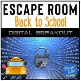 Back to School Digital Breakout Escape Room