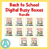 Back to School Digital Busy Boxes for Distance Learning **