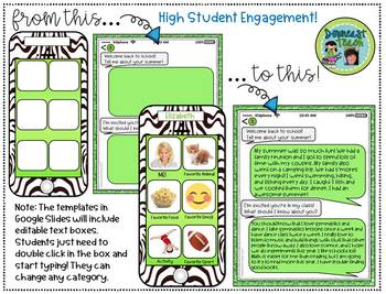 Back to School Digital Cell Phone Craftivity for Google Drive