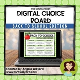 Back to School Digital Choice Board with Google Slides - D