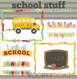 Back to School Clipart - Frames, School Bus, Headers