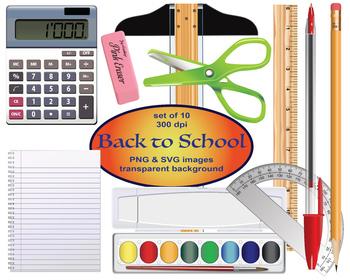 Back to School Digital Clipart