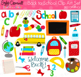 Back to School Digital Clipart, Cute Kids Clipart