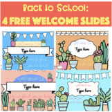 Back to School: Digital Editable Welcome Slides