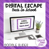 Back to School Digital Escape (Google Slides)