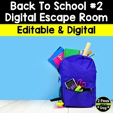 Back to School Digital Escape Room #2 | Distance Learning
