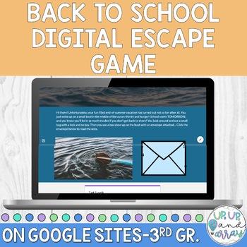 Back to School Digital Escape Room 3rd Grade!