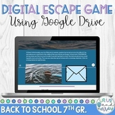 Back to School Digital Escape Room 7th Grade
