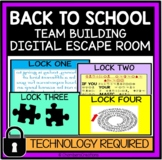 Back to School Digital Escape Room, Distance Learning