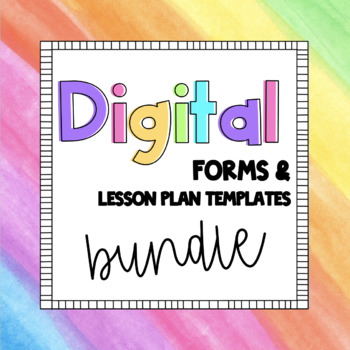 Back to School Digital Forms - Growing Bundle
