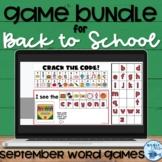 Back to School Digital Game Bundle | Digital Sight Word Games