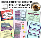 Back to School Digital Interactive Notebook Get to Know Your Students