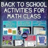 Back to School Digital Math Activities for Middle School