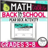 Back to School | Digital Math Talks | Pear Deck Activity |