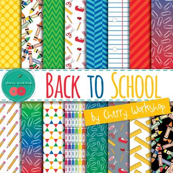 Back to School Digital Paper