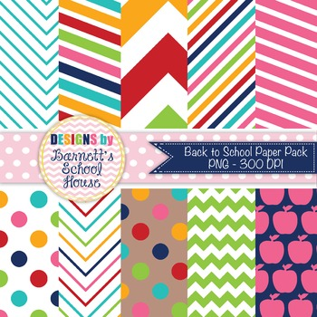 Digital Paper Back to school {Commercial Use}