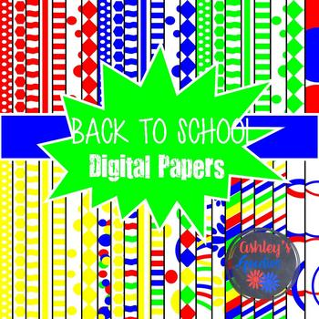 Back to School Digital Paper Set!