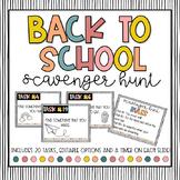 Back to School Digital Scavenger Hunt