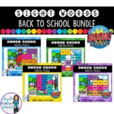 Back to School Digital Sight Word Puzzles BOOM Cards BUNDLE