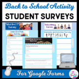 Back to School Digital Student Surveys and Inventories