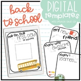 Back to School Digital Templates
