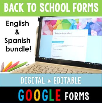 Digital Back to School Forms (ENGLISH AND SPANISH BUNDLE!)