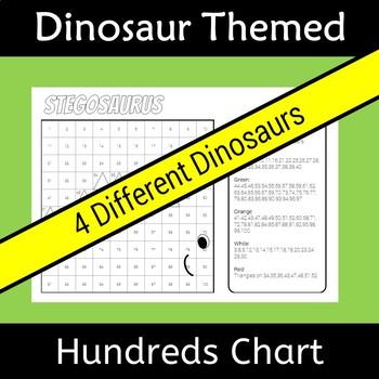 Back to School Dinosaur Hundreds Chart Hidden Picture