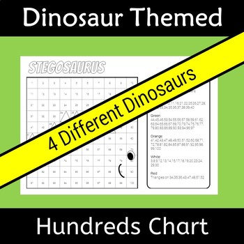 Back to School Dinosaur Hundreds Chart Hidden Picture