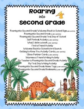 Back to School Dinosaur Theme Roaring into Second Grade
