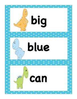 Pre Primer Dolch Sight Words Dinosaur Themed