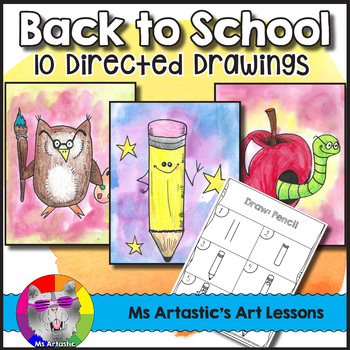 Back to School Directed Drawing