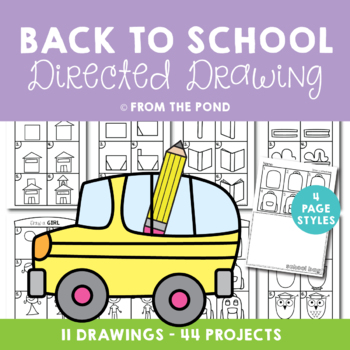 Back to School Directed Drawing - Printable Worksheets