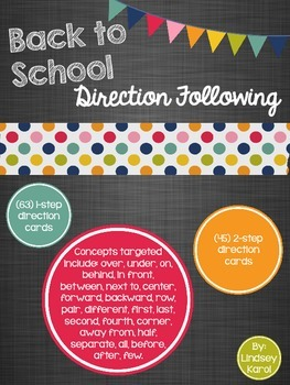 Back to School Direction Following