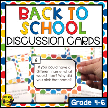 Back to School Discussion Activities
