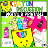 Back to School Discussion Cards for Students   Get to Know