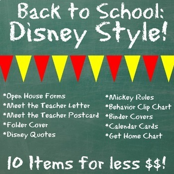 Back to School, Disney Themed Essentials! {All Stored on Google Docs}