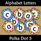 Back to School Display Letters Alphabet Subject Wall Display Polka Dot 5