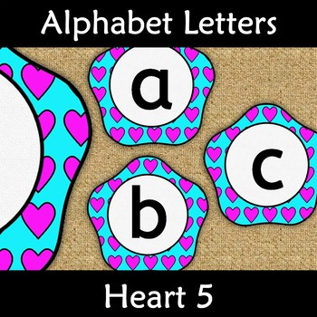 Back to School Display Letters Alphabet Subject Wall Display Heart 5