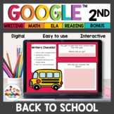 Back to School Distance Learning Activities 2nd Grade