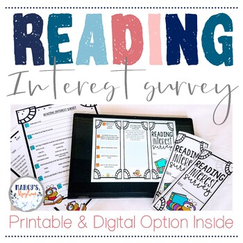 Back to School Distance Learning Activity - Reading Interest Inventory Survey