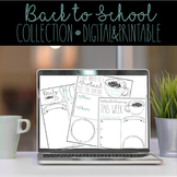 Back to School Distance Learning Bundle- Digital and Printable